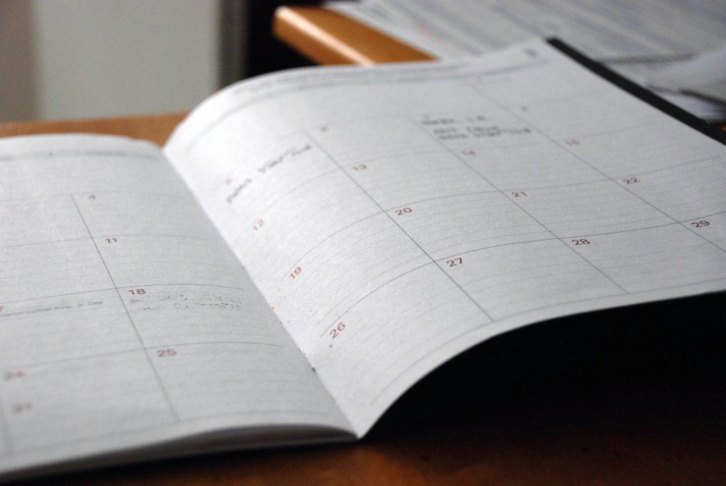 Gefalzter Kalender